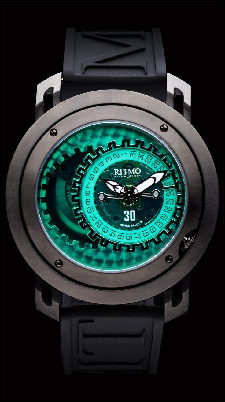 Ritmo Persepolis Black/Green Dual Orbital Swiss Automatic