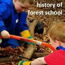 Lovely website about Forest School & offering courses