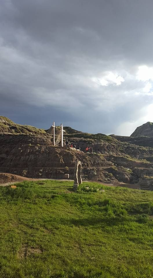 """Always have some beautiful light happening out here.""  Photography by Brian Jensen, also our director this year (2016) #PassionPlay #CanadianBadlandsPassionPlay #Drumheller #OutdoorTheater  #CBPassionPlay #Travel  #Jesus"