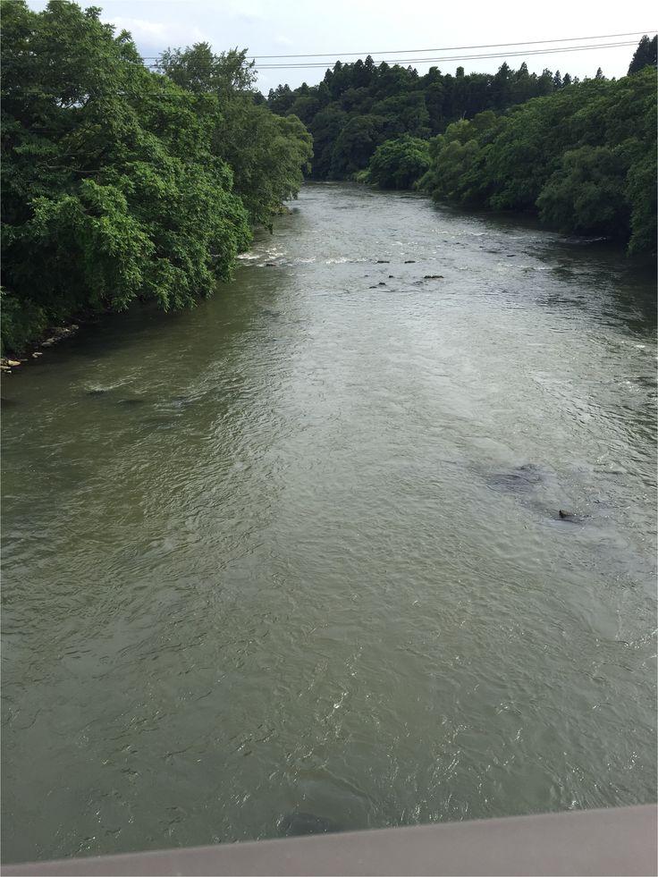 【P】岩手県盛岡市上堂付近、北上川。行った日がよく晴れていたせいかすごく川が綺麗で思わず写真に収めてしまった