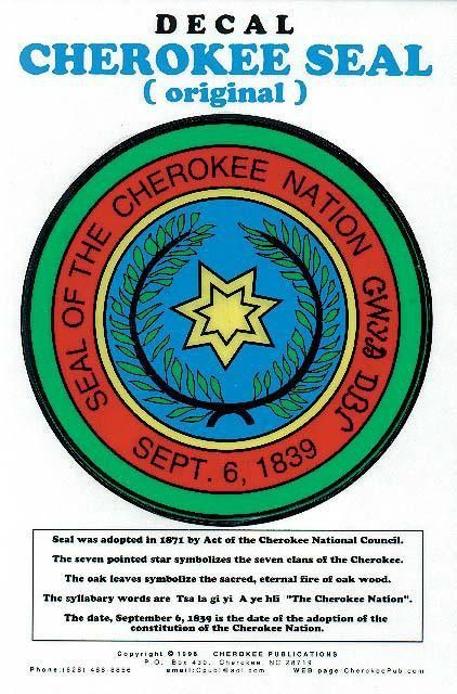 Cherokee Seal Decal