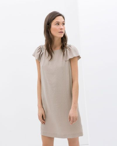 The shape, shade, fabric and sleeves could provide the right movement, Zara