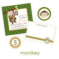 Boy Monkey Collection : WH Hostess, Stationery Custom Designs Party Planning Holidays Birth Announcement Collections