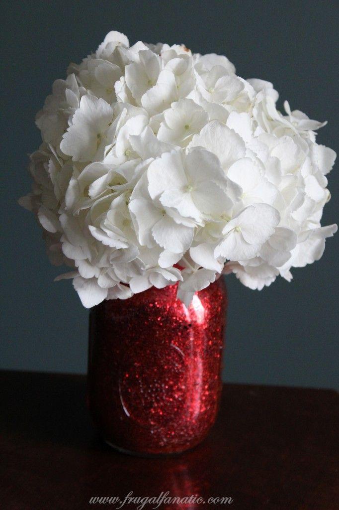 DIY - Glitter Mason Jar Vase Tutorial