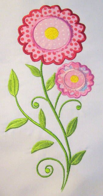 Vintage Flower 01 Machine Applique Embroidery Design  by KCDezigns, $3.50