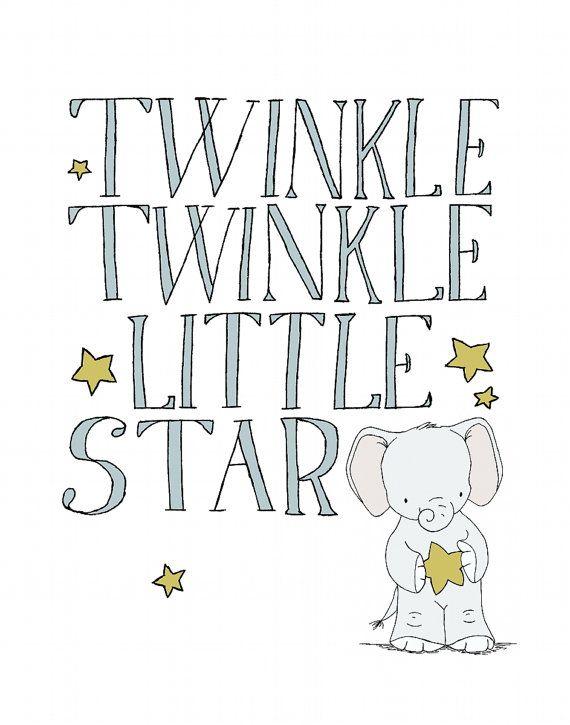 Twinkle Twinkle kleiner Stern Kinderzimmer von SweetMelodyDesigns