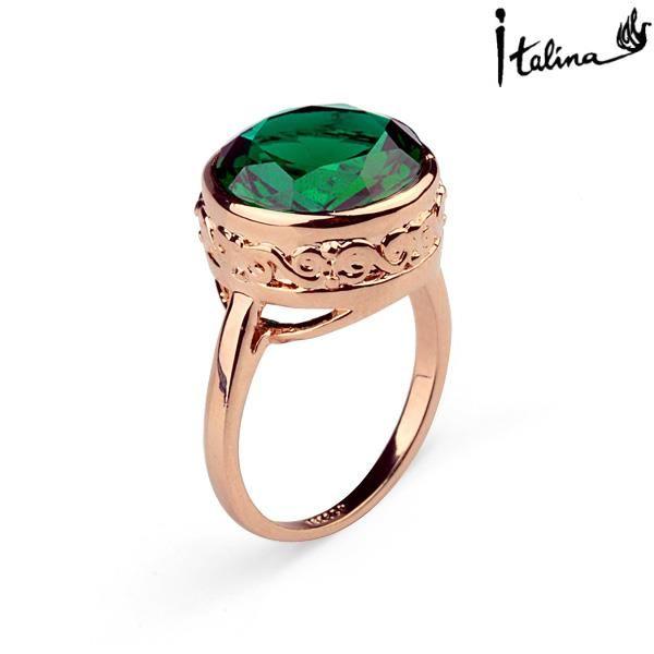 Reale italina rigant genuine austria cristallo anelli placcati oro per le donne sane anti allergie # rg95832
