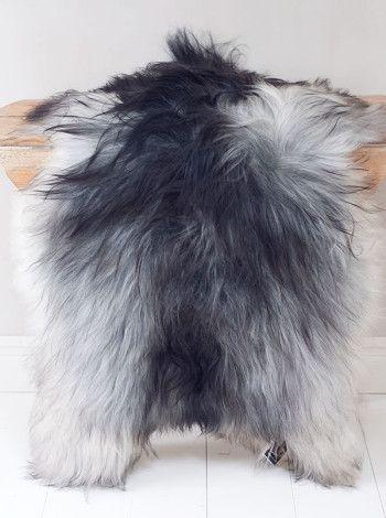 Isländskt långhårigt fårskinn, natural grey, XL, eco product