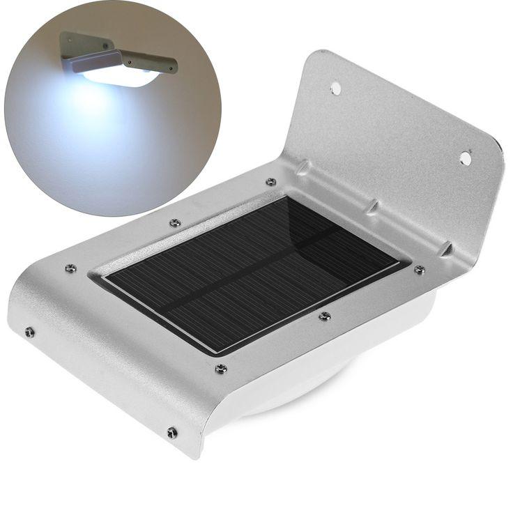 16 led solar outdoor light panel powered motion sensor led lamp energy saving wall lamp solar