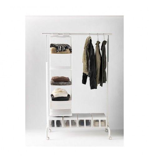 IKEA RIGGA Clothes Rack Adjustable Height, WHITE