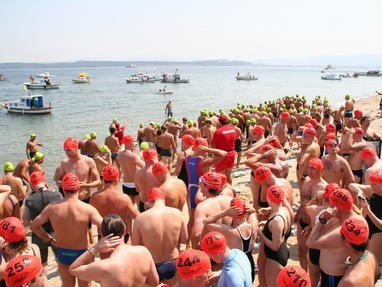 Complete the Byron Hellespont Bicentenary Swim.