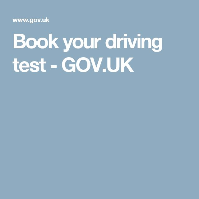 Book your driving test - GOV.UK
