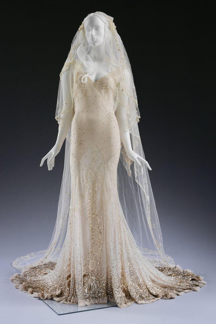 Kate Moss' wedding dress up-close at the V&A