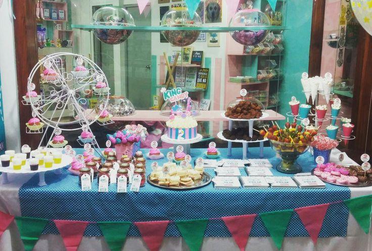 Mesa de dulces!! Segundo aniversario 🎂🍫🍬🍭🎉