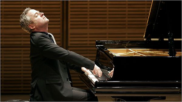 """Jeremy Denk, in a concert at Zankel Hall that paired two of the most path-breaking works in the piano repertory: Ives's """"Concord"""" Sonata and Beethoven's """"Hammerklavier."""""""