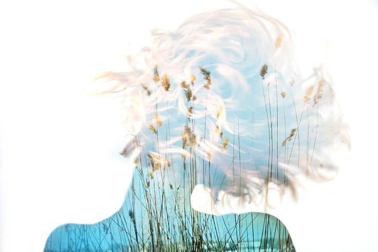 "Deep double exposure photography from the project ""Insideout"" by Grain Pixels photography Wind under the skin"