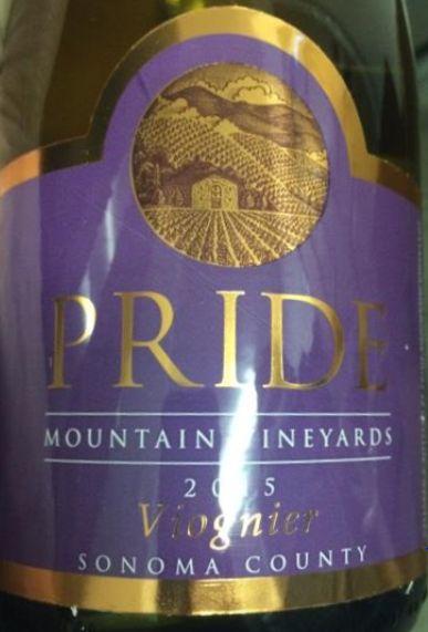 2015 Pride Mountain Vineyards Viognier