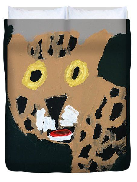 Patrick Francis Duvet Cover featuring the painting Jaguar 2014 by Patrick Francis