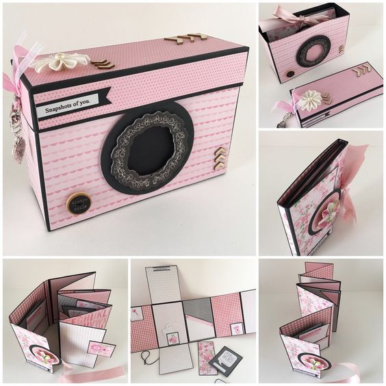 Baby Girl Scrapbook Photo Album Pink and Black Babies First