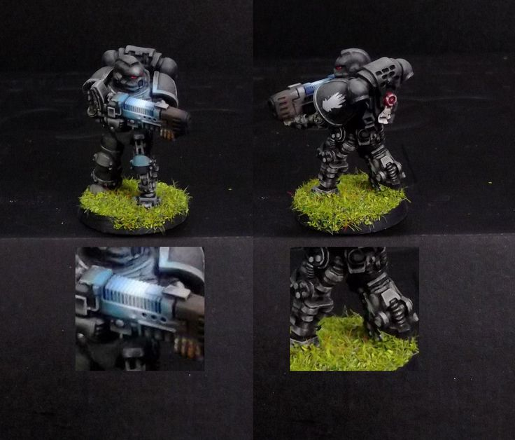Tactical marine with plasma gun