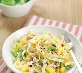 Exotische pasta met mango - Recept - Jumbo Supermarkten