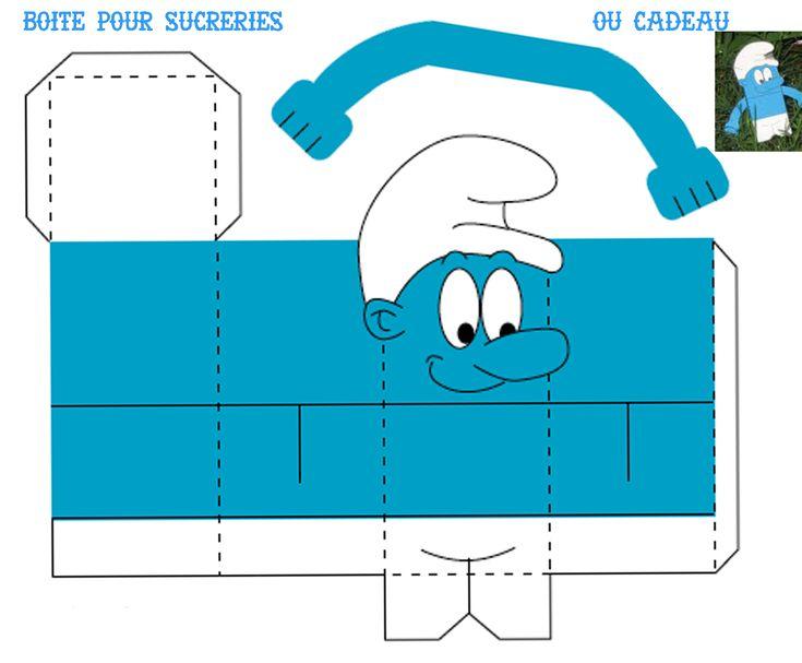 """THEME """"SCHTROUMPFS"""" fete bleue - 1 et 2 et 3 DOUDOUS * PATRONS* PATTERNS * GABARITS FETE A THEMES POUR ENFANTS"""