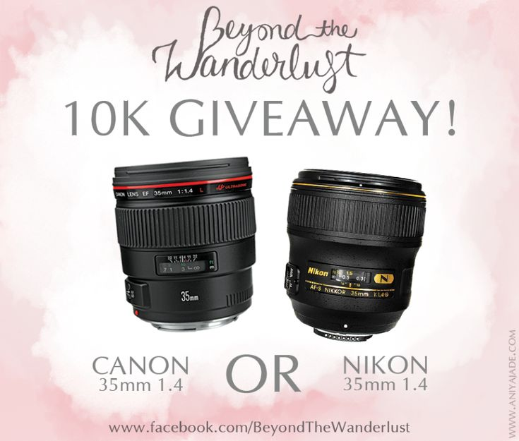 Beyond the Wanderlust 10k Worldwide Giveaway | Nikon or Canon 35 1.4 Lens