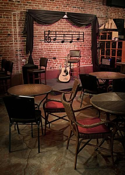 Have a small stage for people to reserve a time to perform maybe just to sing with some instruments