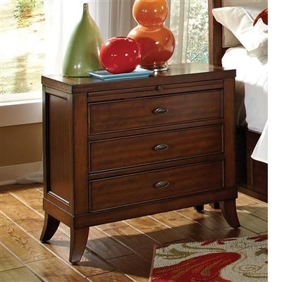 nightstand with built in outlet 3