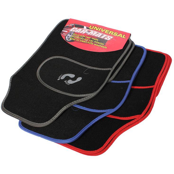 Frente 4pc universal de pvc trasera van coche alfombra alfombra antideslizante patrón pies de agarre