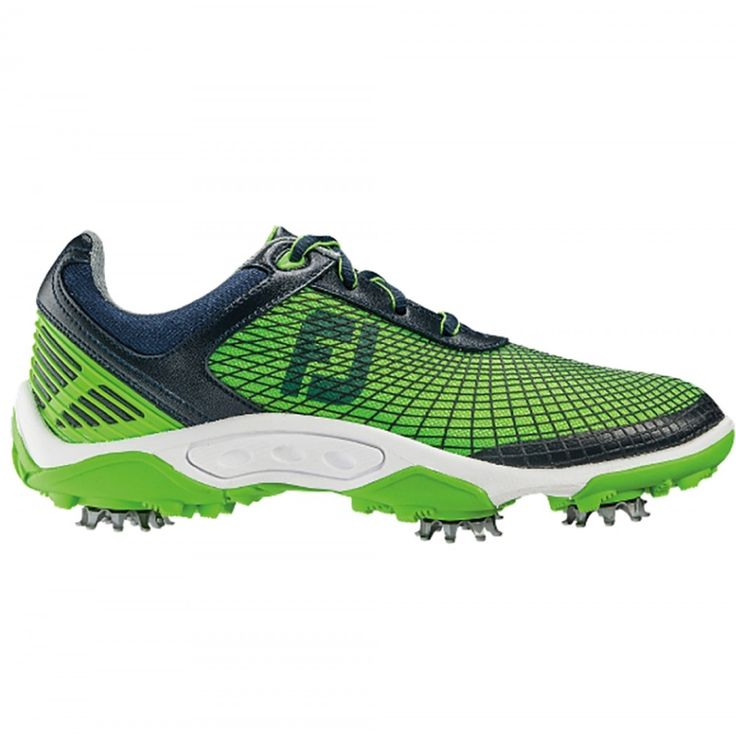 FootJoy Junior 45098 Navy/Electric Green Men's Golf Shoe from @golfskipin