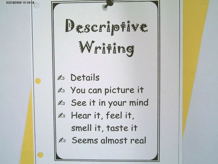 63 best Descriptive writing images on Pinterest | Teaching ideas ...