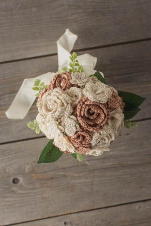 DIY Crochet Wedding Bouquet I love the idea of crochet flowers as a wedding bouquet.