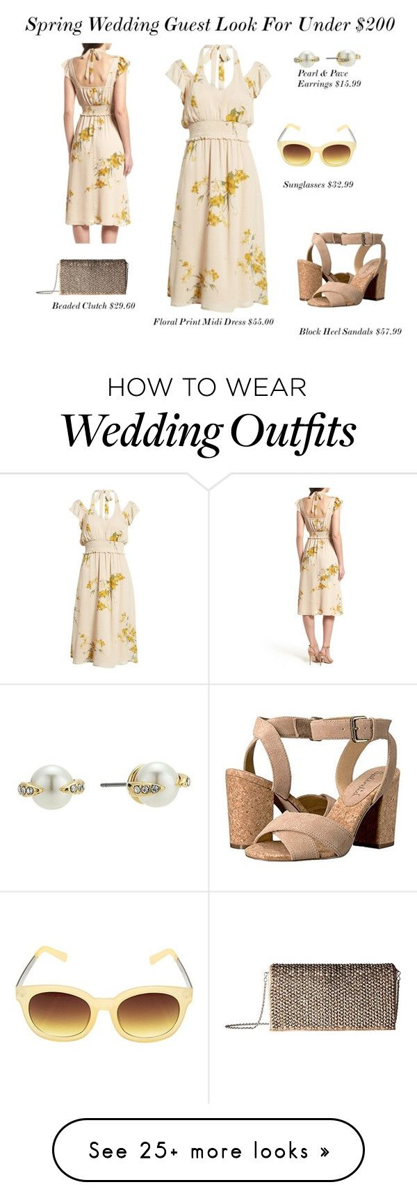 """Spring Wedding Guest Look For Under $200.00!"" by stylebyjonathan on Polyvore featuring June & Hudson, Steve Madden and Vince Camuto"