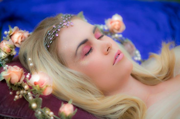 Sleeping Beauty from the #SAFW2014 'Lose yourself in the Fairytale of Fashion' campaign. She wears an exquisite tiara with rare pink diamonds, handcrafted by Wharton Goldsmiths.