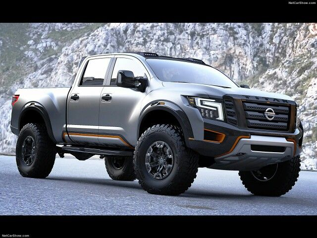 Nissan Titan XD Warrior Concept. Over 87 in. wide, 37's mounted on 18x9.5 in wheels. Cummins new 5.0 turbo engine. My new dream truck.