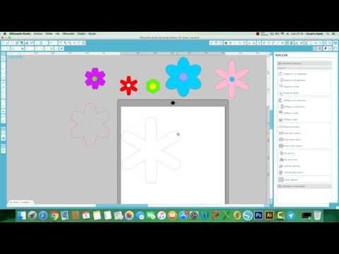 Diseña flores desde tu programa studio designer: Usando Centro de Rotación. - YouTube