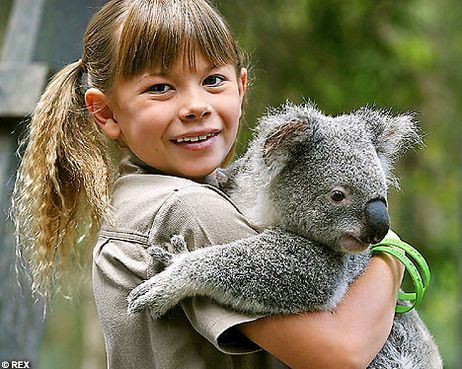 Bindi Irwin, at home in Australia Zoo.