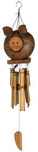 Woodstock Coco Pig Bamboo Chime- Asli Arts Collection