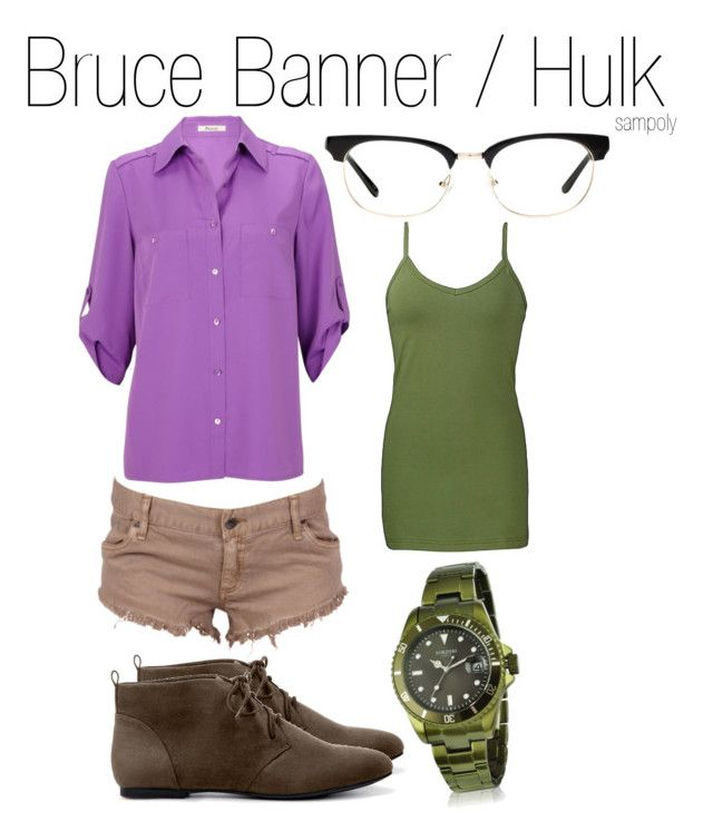 """""""Bruce Banner / Hulk"""" by sampoly ❤ liked on Polyvore featuring Precis Petite, Zara, Madewell, BKE, Forzieri and bruce banner hulk"""