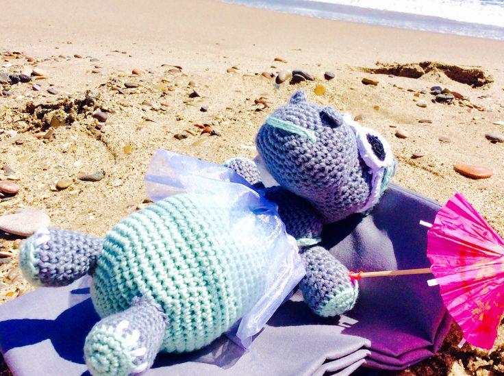 Hipo playa amigurumi