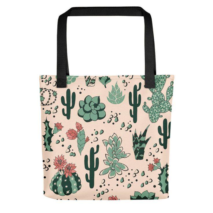 Illustrated Desert Cactus Tote bag   Succulent tote bag   cactus art   Desert theme   by BlackCatCurioCo on Etsy https://www.etsy.com/ca/listing/578184632/illustrated-desert-cactus-tote-bag