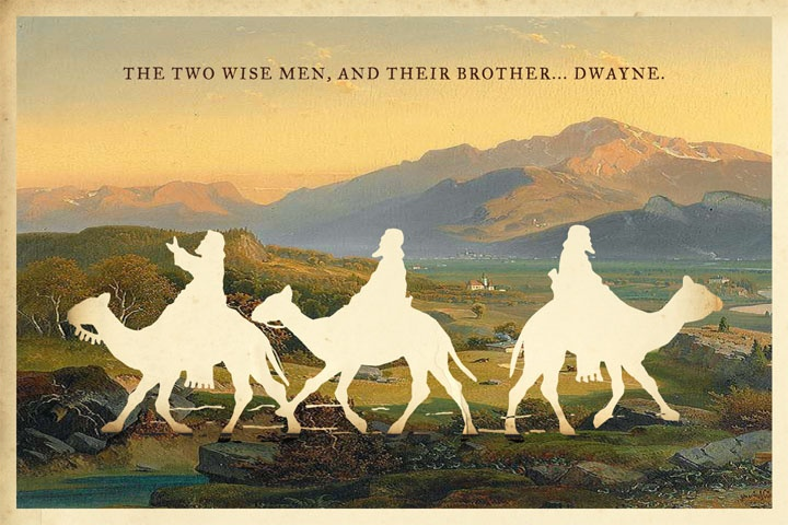 Two Wise Men, and Their Brother, Dwayne...silhouette art by Wilhelm Staehle
