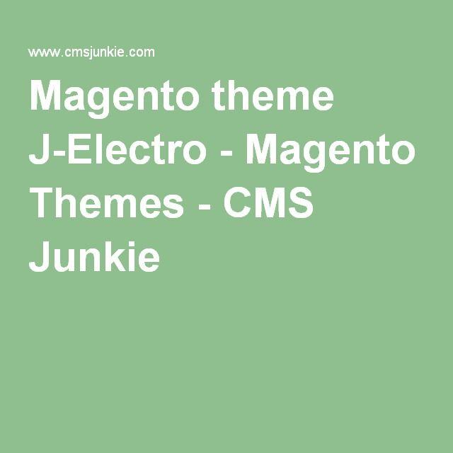 Magento theme J-Electro - Magento Themes - CMS Junkie