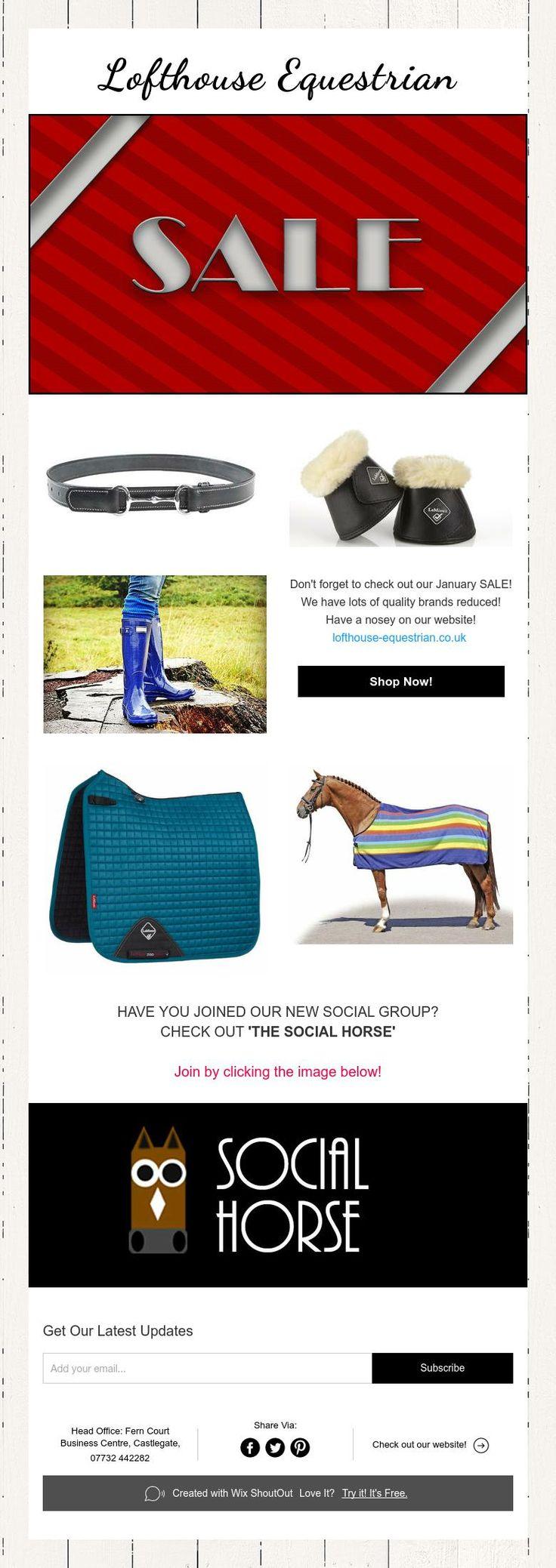 Lofthouse Equestrian Newsletter! #januarysale #sale