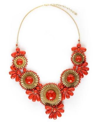Zad Neptune's Treasure Coral Red Necklace