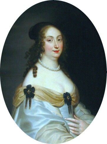 1650-Justus van Egmond-Royal Castle Warszawa-Marie Louise Gonzaga (Polish: Ludwika Maria; 18 August 1611 – 10 May 1667) was wife of two Polish kings, Władysław IV Vasa and John II Casimir Vasa, and as such queen of Poland. She was born in Paris (or Nevers) to Charles I, Duke of Mantua, and Catherine of Guise-ad.gogmsite-grand ladies 1620-1715 Louis XIII+XIV