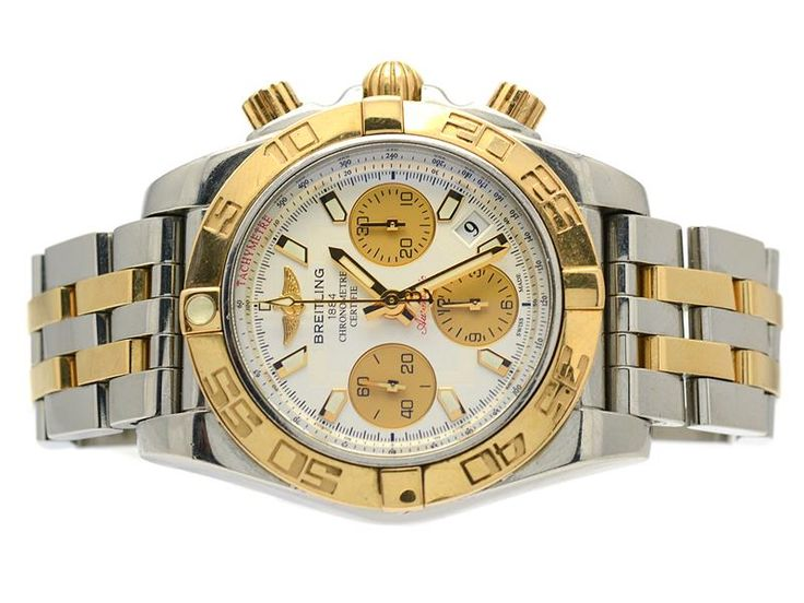 FOR A LIMITED TIME - Ends On 2017-09-26 11:00 (GMT) - Watches Breitling Breitling Chronomat 41 Serial number 3119181 Steel/gold CB014012/G713 spare linkparts digital certificate case, sold 10-01-14 5-Year warranty Keywords: Auction, breitling, Recommended, Watch