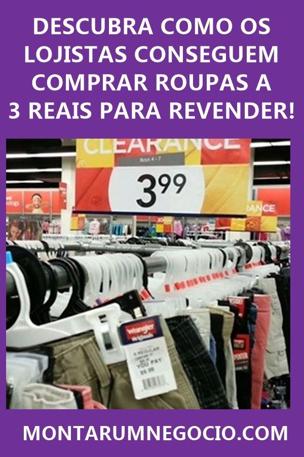 187a1ee0e0 Descubra como os lojistas conseguem comprar roupas baratas a R  3 Reais  para revender! São peças muito baratas no atacado.