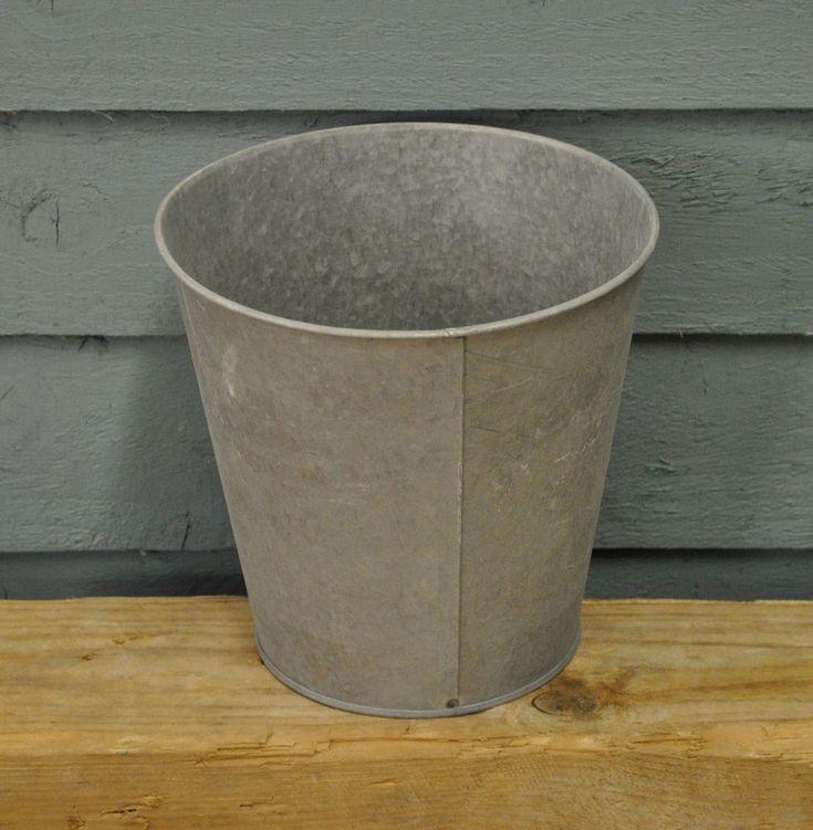 Zinc Garden Vase Planter (25cm) by Fallen Fruits